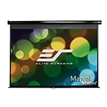 Elite Screens Manual, 120-inch 4:3, Pull Down Projection Manual Projector Screen with Auto Lock, M120UWV2