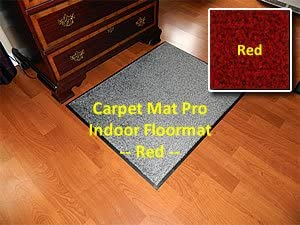 Walk Off Entry Floor Mat – Carpet Mat Pro – 4 x 13 – Red – Non Skid Indoor Runner Matting