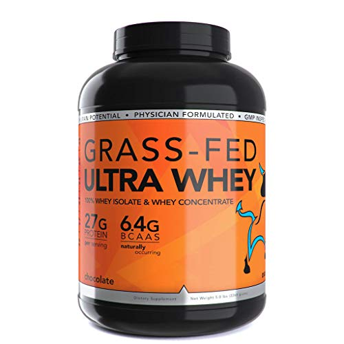 Dioxyme 5lb Grass Fed Ultra Whey Protein – 100 Grass Fed Gluten Free Non-GMO No rBGH Whey Isolate and Concentrate 27gm Protein serv. 5lb Cinnamon Bun