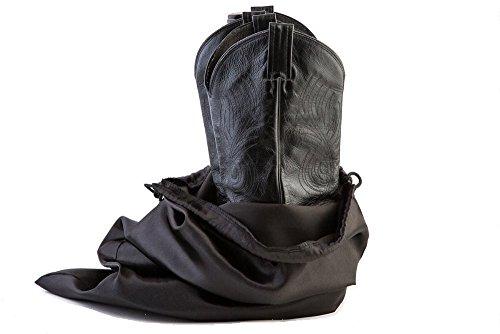 Large Boot Bag, Cowboy Boot Bag w/ Drawstring (Black) -Se...