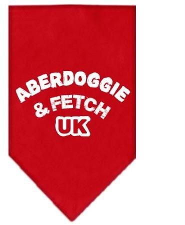 Aberdoggie UK Screen Print Bandana Red Small Case Pack 24 Aberdoggie UK Scree... by DSD