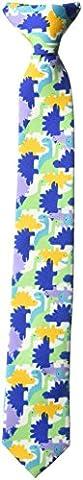 Wembley Big Boy's Clip-on Novelty Fun Print Tie Accessory, multi/color, One Size - Kids Necktie