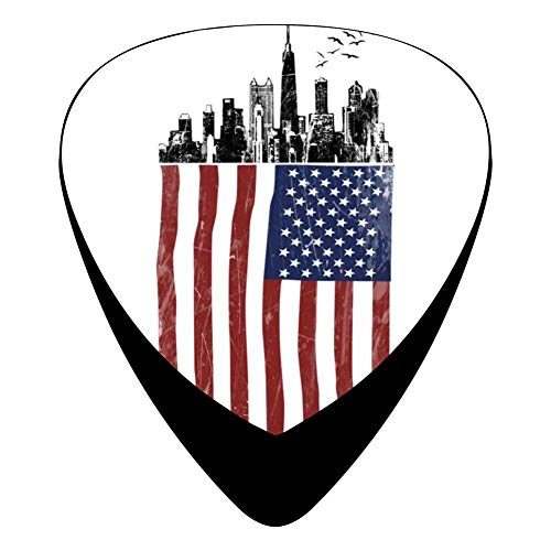 American City 351 Shape Medium Classic Celluloid Picks, 12-Pack, For Electric Guitar, Acoustic Guitar, Mandolin, And Bass