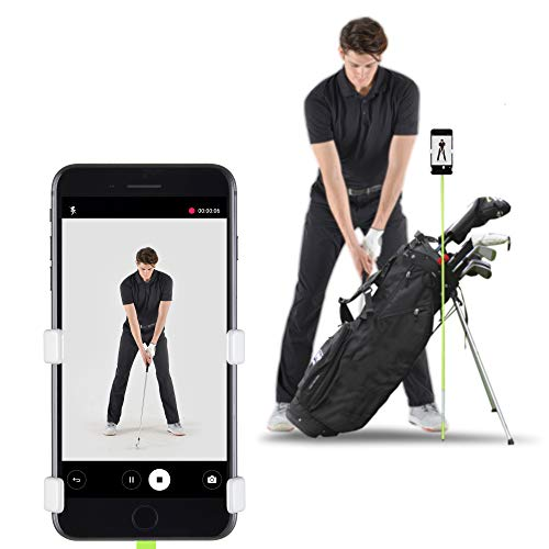SelfieGOLF Record Golf Swing - Cell Phone Holder Golf Analyzer Accessories | Winner of The PGA Best Product | Selfie Putting Training Aids Works with Any Golf Bag and Alignment Stick from Selfie Golf