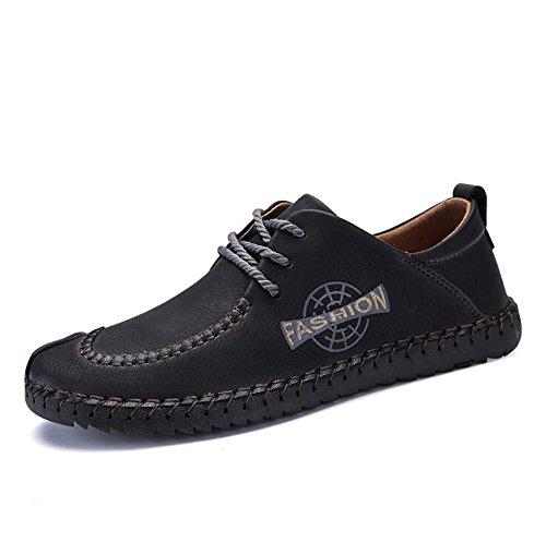 Tide Scarpe Nero alla in Tempo Allacciatura Uomo Basse Uomo Inglesi Morbida Scarpe Affari di Pelle Moda Wild Shoes da da Uomo Libero Scarpe Traspiranti da 4SqawxxBf