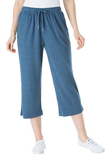 8ffa6685816a2 Women s Plus Size Sport Knit Capri Pant Heather Navy