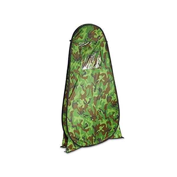 41t9R Cj qL Relaxdays Duschzelt, Pop Up Stehzelt für Camping, Garten & Outdoor, Umkleide- & WC-Zelt, 200 x 120 x 120 cm, Camouflage