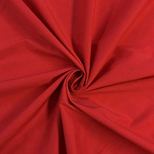- 1 Yard Red Stretch Broadcloth Fabric Cotton Polyester Blend 59