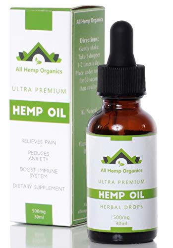 Ultra Premium Hemp Oil 500MG Specially Formulated for Anti Anxiety :: Stress Relief, Sleep Aid, Skin Care, Pain Relief, Natural Anti-Inflammatory