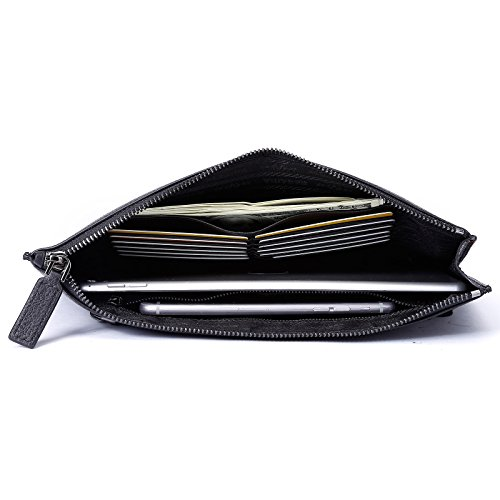 9841bf59b27d BABAMA Men s Unisex Fashion Camo Leather Clutch bag Hand bag Wallets Large  checkbook Zipper Purse