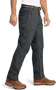 MAGCOMSEN Men's Winter Snow Pants 5 Zipper Pockets Water Resistant Fleece Lined Hiking Tactical P