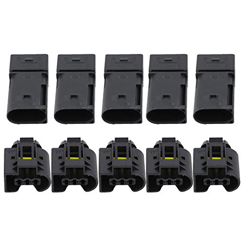CNLW 5 Sets 3 Pin Injector Auto Connector ABS Sensor Electrical Wire Connector Female And Male DJ7038-3.5-11/21: