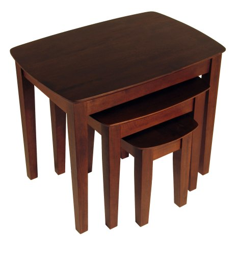 Winsome Wood 94327 Bradley Accent Table, Antique Walnut