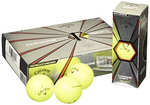 Callaway Chrome Soft X Golf Balls, Prior Generation, (One Dozen), Yellow