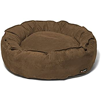 Amazon.com : Big Shrimpy Nest Faux Suede Dog Bed, Large