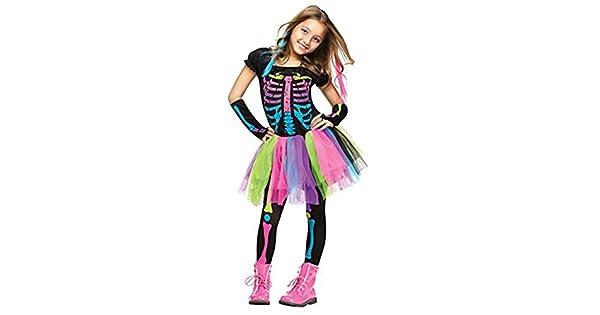 Amazon.com: Niña de Funky Bones: disfraz de niña esqueleto ...