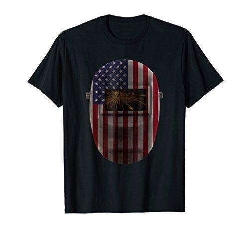 - Welders Vintage American Flag Welder Gift T-Shirt