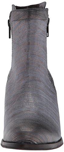 Frye Women's Addie Double Zip Ankle Boot, Grey Pewter Cut Metallic