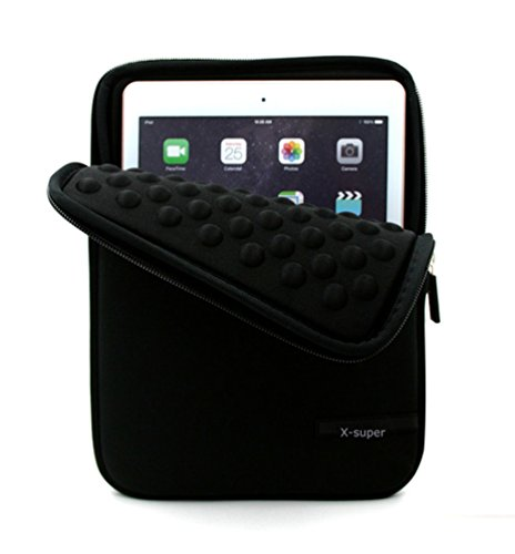 X-super Ipad Pro 9.7 Shockproof Pouch Neoprene Sleeve Case Cover Protective Pouch Organizer (Black)