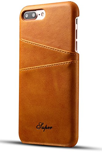 iPhone 8 Plus / 7 Plus Wallet Phone Case, XRPow Slim PU Leather Back Protective Case Cover With Credit Card Holder for Apple iPhone 8 Plus (Best Leather Iphone 7 Case)