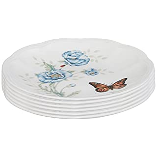 Lenox Butterfly Meadow Party Plates, Set of 6, white