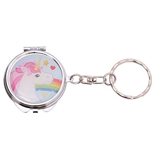 Porte clé licorne miroir de poche motif n° 4