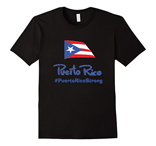 Mens Strong T-Shirt Fuerte Support for Puerto Rico Unisex Top Tee XL Black - Puerto Rico Dress