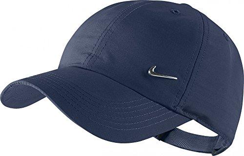 Nike METAL SWOOSH CAP DARK OBSIDIAN/METALLIC SILVER, Größe Nike:MISC