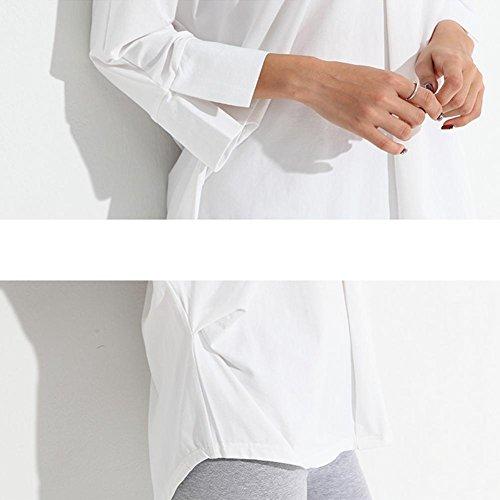 DMMSS Frau Pyjama Pyjama Im Frühjahr Und Herbst Normallack V-Ansatz Lose Beiläufige Oberbekleidung Pyjamas Bademantel