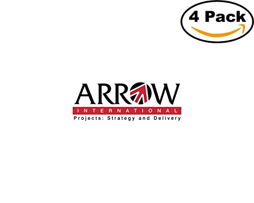Arrow International 4 Stickers 4X4 Inches Car Bumper Window Sticker Decal