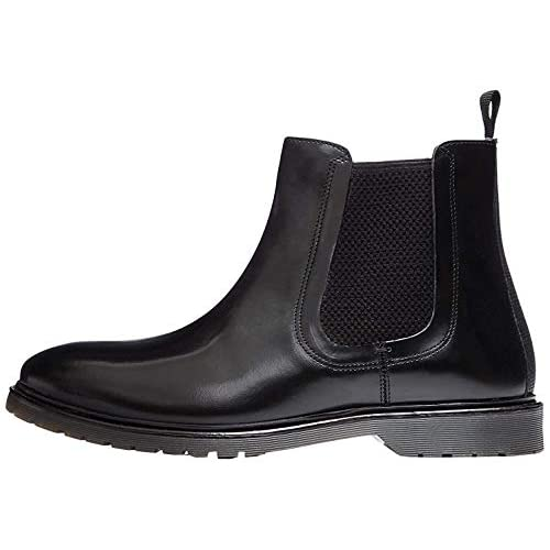 chollos oferta descuentos barato find Leather Cleated Botas Chelsea Negro Black Polido 44 EU