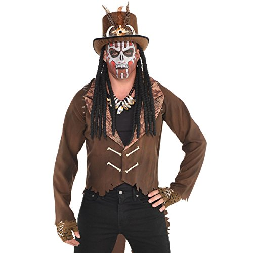 AMSCAN Witch Doctor Top Hat with Dreads Halloween Costume Accessories, One ()
