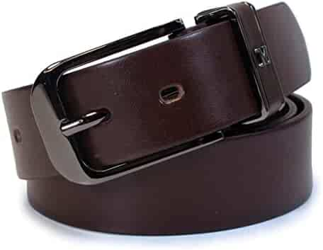 TM4 Mens Real Genuine Leather Belt Black Brown White 1.5 Wide S-XL Casual Jeans