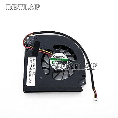 DBTLAP Ventilador de la CPU del Ordenador Portátil para DELL 9400 E1705 6400 E1505 1501 9200 6000 9300 v1000 E1505 PP20L PP23LA Notebook CPU Ventilador ...