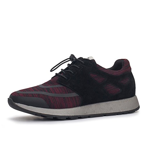 Herren Freizeitschuhe Dress Bergsteigen Herbst Outdoor Schnüren Sport Schuhe Rutschen Schwarzbraun Rot