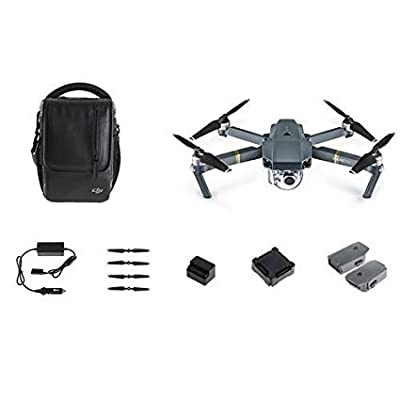 DJI Mavic PRO FLY MORE COMBO: Foldable Quadcopter Drone Kit with Remote, 3 Batteries, 16GB MicroSD, Charging Hub, Car Charger, Power Bank Adapter, Shoulder Bag by DJI
