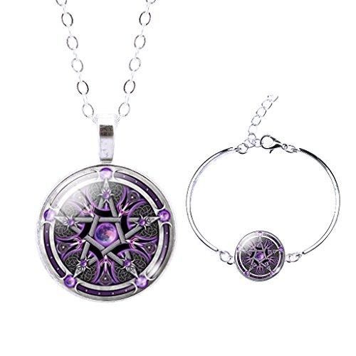 Jiayiqi Religious Pentacle Gemstone Necklace product image