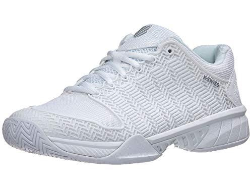 K-Swiss Women's Hypercourt Express Tennis Shoe (White/Highrise, 7)