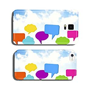 People With Speech Bubble And Cloudy Sky cell phone cover case Samsung S5