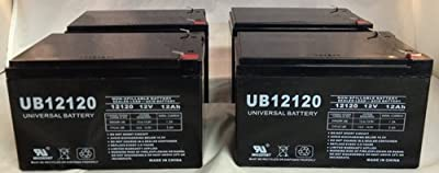 UB12120 12V 12AH Sealed Lead Acid Battery (SLA) .187 TT - 4 Pack
