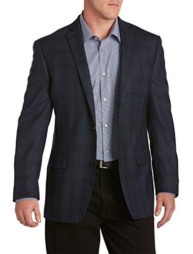 Michael Kors Big and Tall Plaid Wool Sport Coat (52 R, - Destination Michael Kors