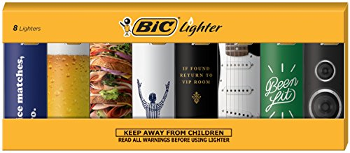 BIC Special Edition Good Vibes Series Lighters, Set of 8 Lighters
