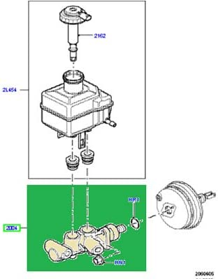 For Land Rover LR3 Range Rover Sport Brake Master Cylinder Eurospare LR014528