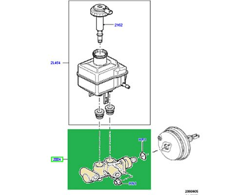 LAND ROVER MASTER CYLINDER BRAKE RANGE ROVER SPORT 05-09 LR3 NEW LR014528 EUROSPARE