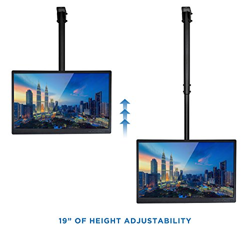 mount it ceiling tv mount bracket fits 40 42 47 50 55 60. Black Bedroom Furniture Sets. Home Design Ideas