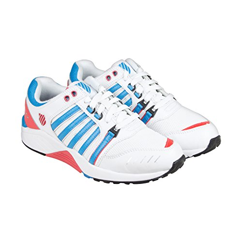 K-Swiss Womens SI-18 Trainer 3 Shoe, Wht/Bludnbe/Rseofshrn - 6