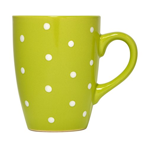 Govinda Crafts Polka Dot Mug Ceramic Coffee Cup 10 Ounces Green Buy Online In Barbados At Barbados Desertcart Com Productid 62289485