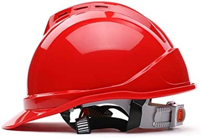 LCSHAN 高強度ヘルメット工事現場電気換気保護用ヘルメット (Color : Red)