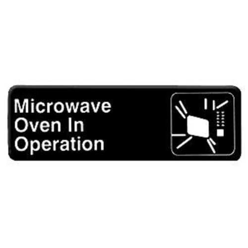 MICROWAVE OVEN IN OPERATION - Information Sign with Symbols Door Sign