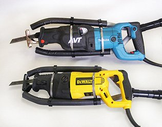 Saw Muzzle Type Z - fits all Sawzall™ type reciprocating saws including the Milwaukee Sawzall, DeWalt, Bosch, Makita and all other large reciprocating saws